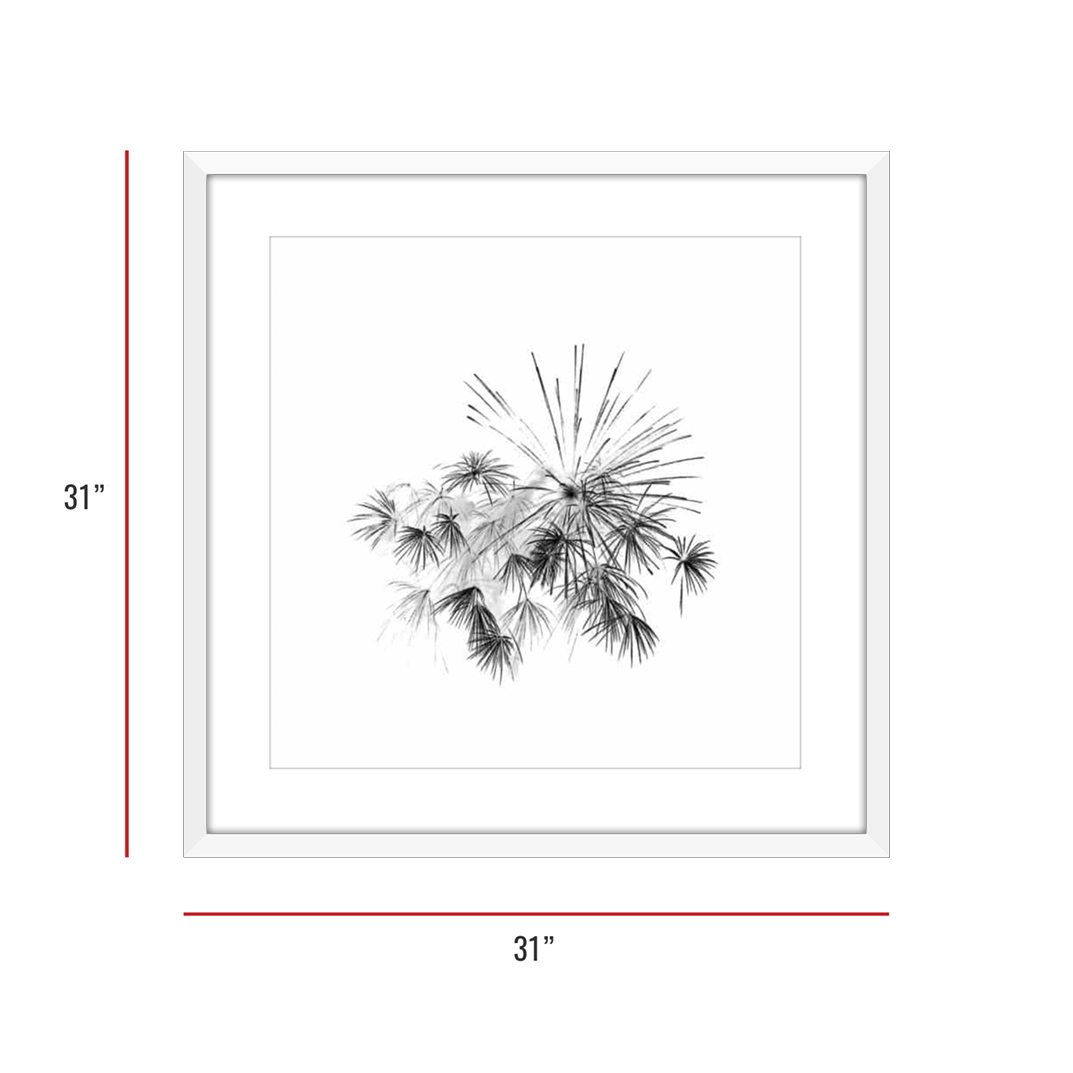 At Burst Point 003 White Framed 31x31