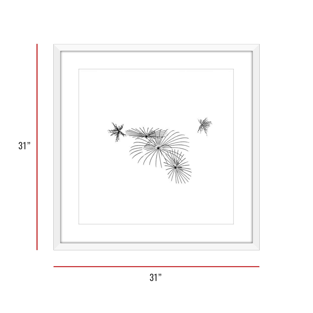 At Burst Point 007 White Framed 31x31