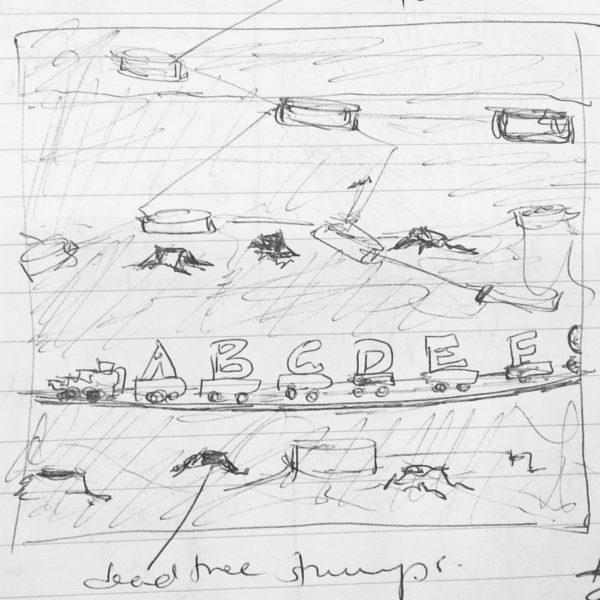The A Train, Toy Stories, preliminary sketch, 2017