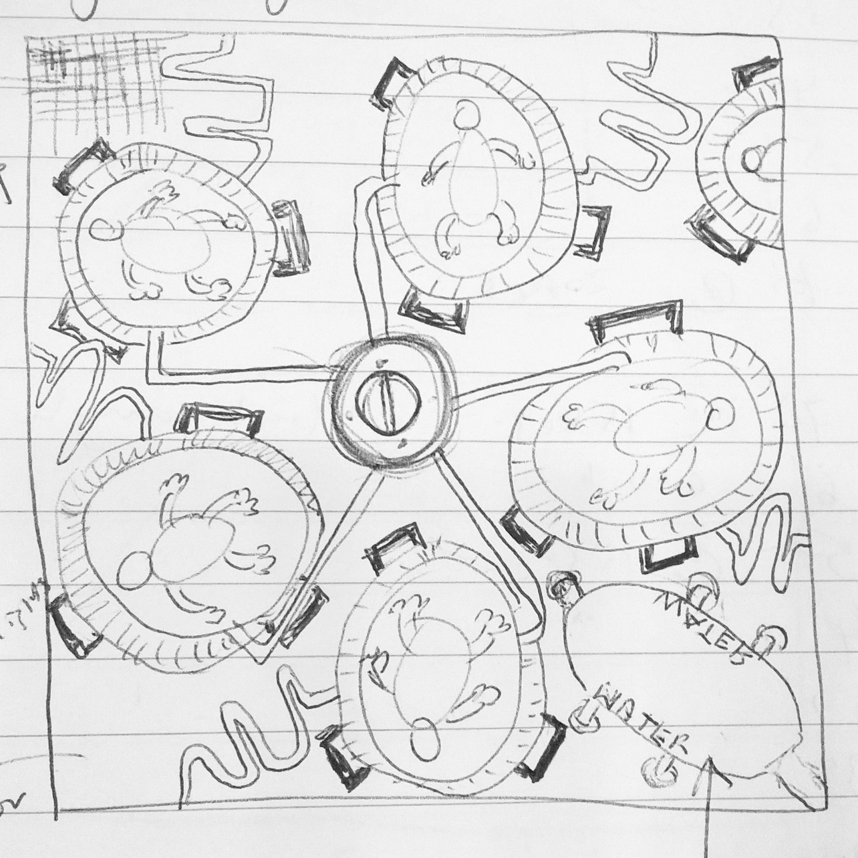 Soup of Dolls, Toy Stories, preliminary sketck, 2017