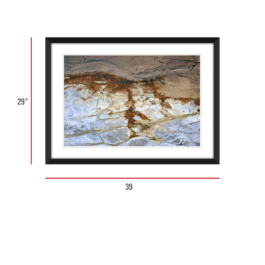Owens Lake 016 Framed 29x39