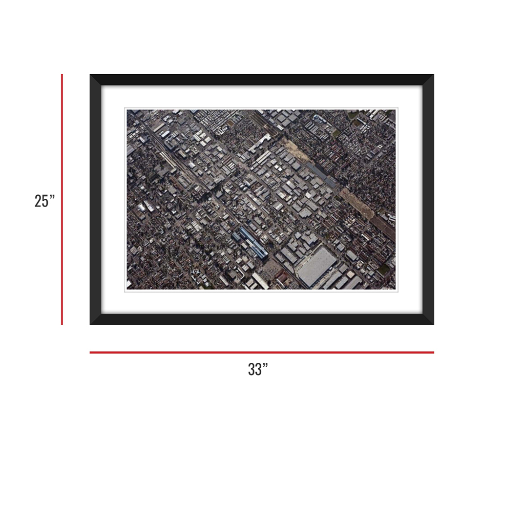 Urbanization 009 Framed 25x33